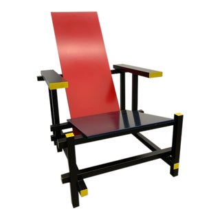 Vintage Gerrit Thomas Rietveld Modernist Lounge Chair For Sale