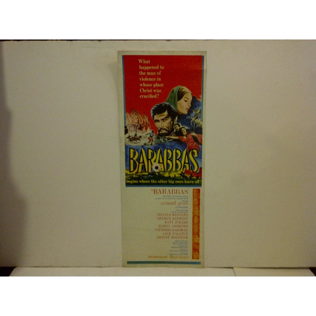 "A Vintage Movie Poster -- ""Barabbas"" -- Starring -- Anthony Quinn -- Copyright 1962 -- Columbia Pictures -- The Poster Is..."