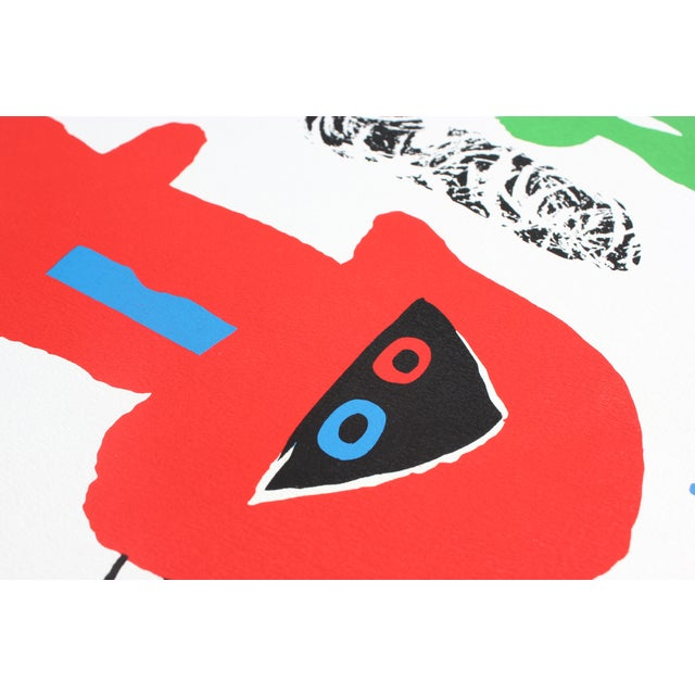 """Red """"Acrobats in the Night Garden"""" Print by Joan Miro For Sale - Image 8 of 8"""