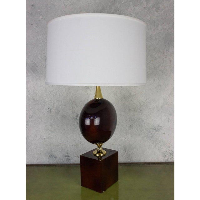 Luxury french aubergine enameled table lamp by maison barbier decaso french aubergine enameled table lamp by maison barbier image 2 of 8 mozeypictures Image collections