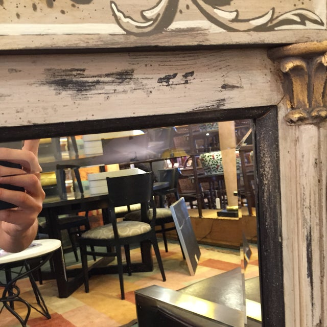 Toile Painted Wall Mirror - Image 7 of 7