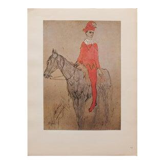 "1948 Pablo Picasso, Original ""Clown a Cheval"" Period Lithograph, C. O. A. For Sale"