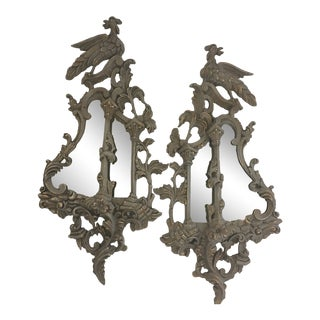 Chinese Chippendale Style Mirrors, a Pair For Sale