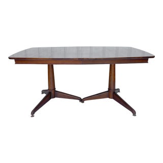 Mid-Century Modern Walnut Perspecta Dining Table With 3 Leaves For Sale
