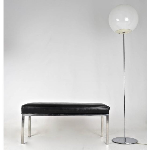 1970s Modern Chrome Bench For Sale - Image 5 of 5