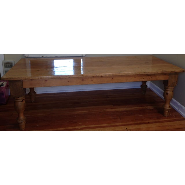 Large Reclaimed Wood Farm Table - Image 6 of 8