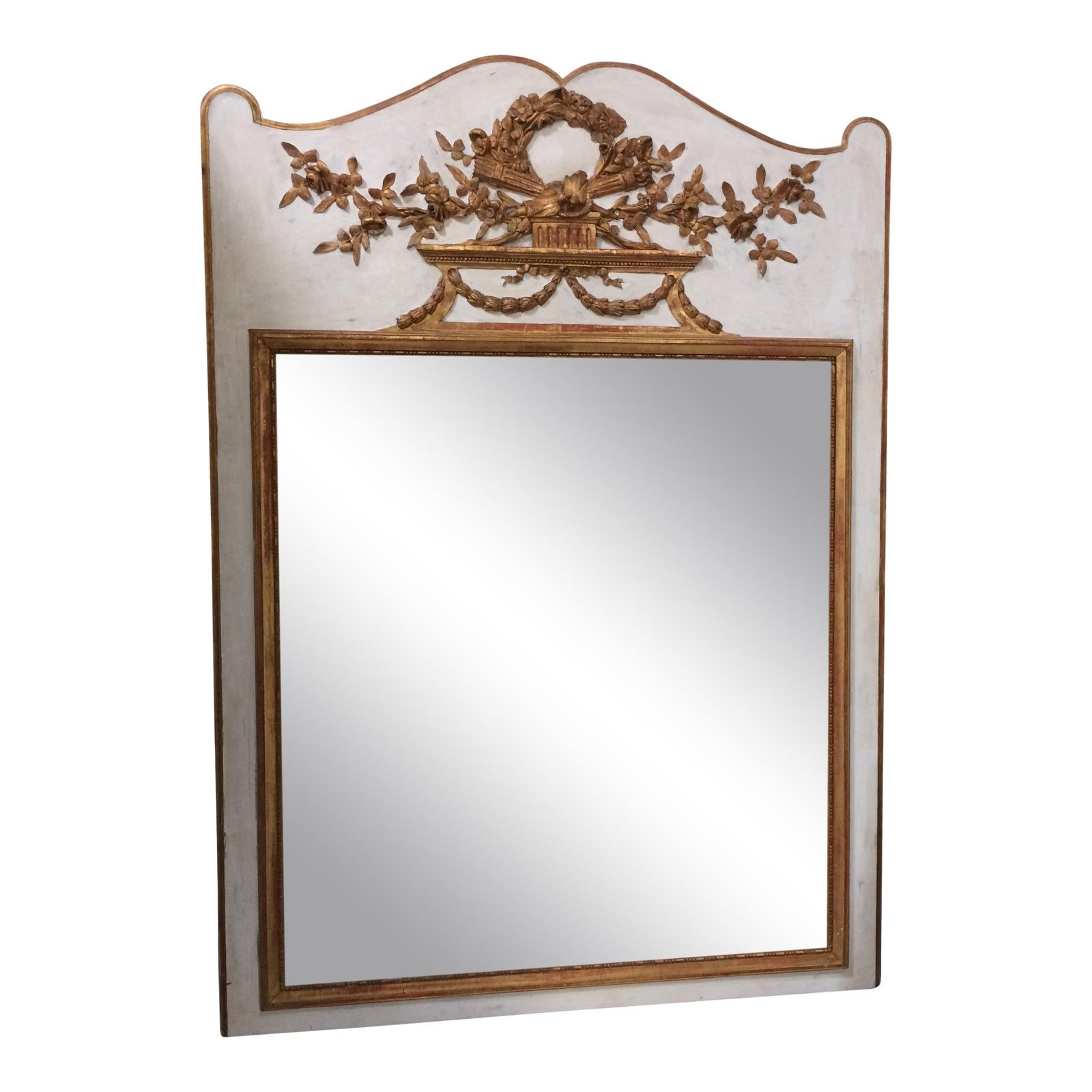 18th Century French Trumeau Mirror Chairish