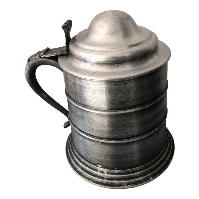 Vintage Italian Pewter Beer Mug Ice Bucket For Sale