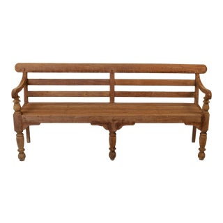 Vintage Indian Wooden Bench For Sale