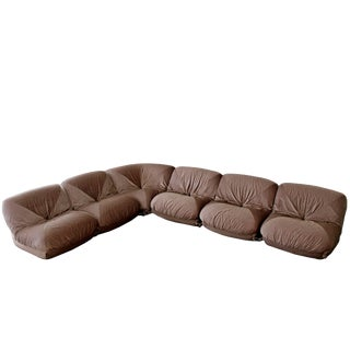 1970s Mid-Century Modern Airborne Patate Sectional Sofa - 6 Pieces For Sale