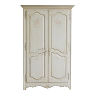 Ethan Allen Country French Hand Decorated Armoire For Sale
