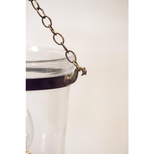 "Electrified 10"" Clear Bell Jar Lantern, Circa:1820, England For Sale In Washington DC - Image 6 of 9"