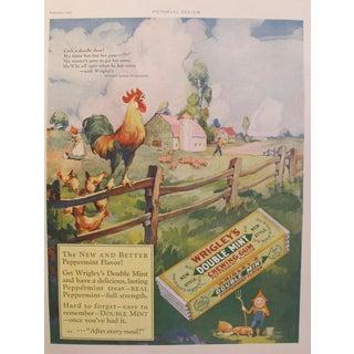 1927 US Farmhouse Advertisement, Double Mint Gum For Sale