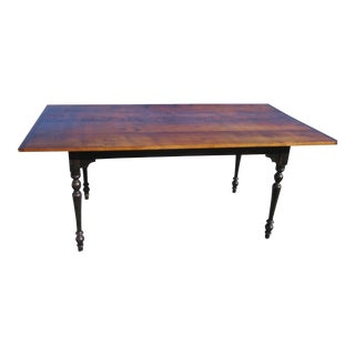 Tiger Maple Harvest Dining Table For Sale