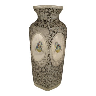 Austrian (Bohemia) Secessionist Tapered Square Glass Vase For Sale
