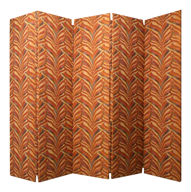 Incredible Custom 5 Panel Upholstered Floor ScreenRoom Divider DECASO
