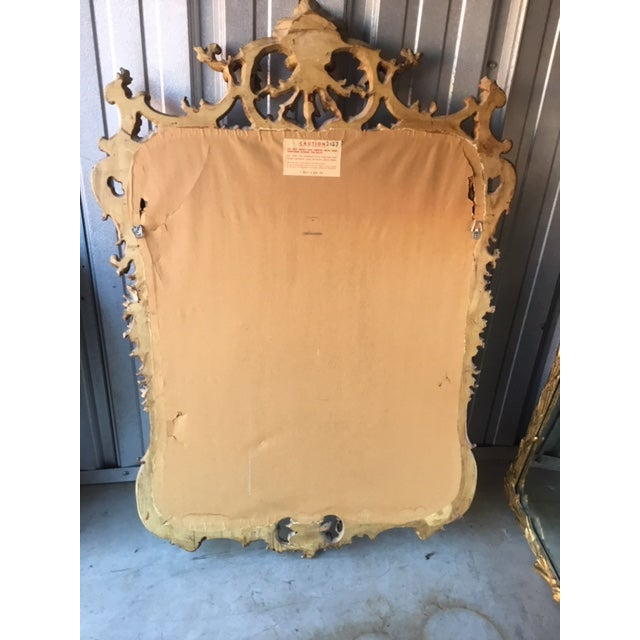 1970s Vintage Milch Carved Giltwood Mirror For Sale - Image 11 of 13