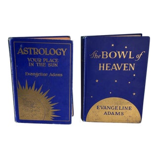 1920s Evangeline Adams Astrology Book - Set of 2 For Sale