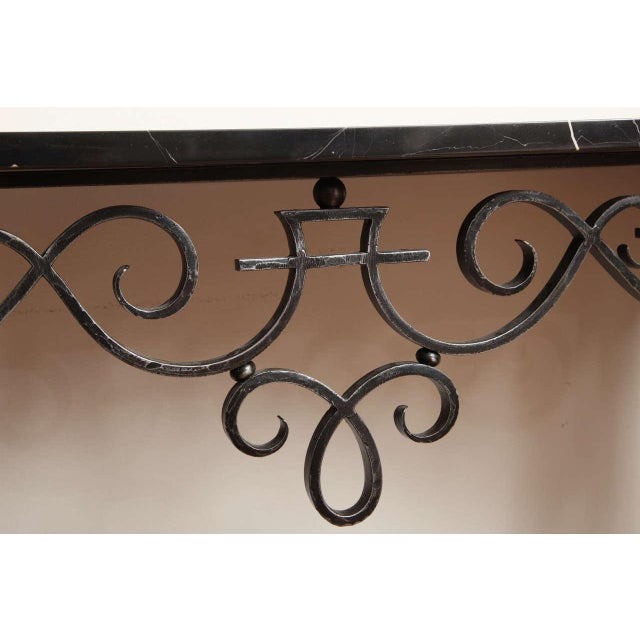 Art Deco Wrought Iron Console For Sale In New York - Image 6 of 10