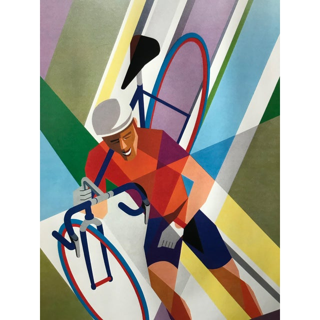"Date: 2002 Size: 31.5 x 47 inches About The Poster: Cycling is defined as ""the sport or activity of riding a bicycle...."
