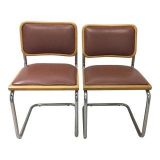 Vintage Breuer 'Cesca' Style Chairs - A Pair