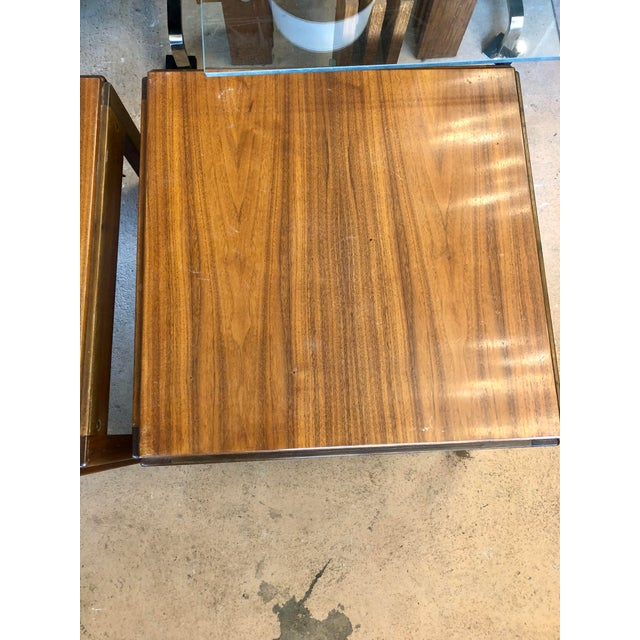 Mid 20th Century 20th Century Danish Mahogany End Tables - a Pair For Sale - Image 5 of 9