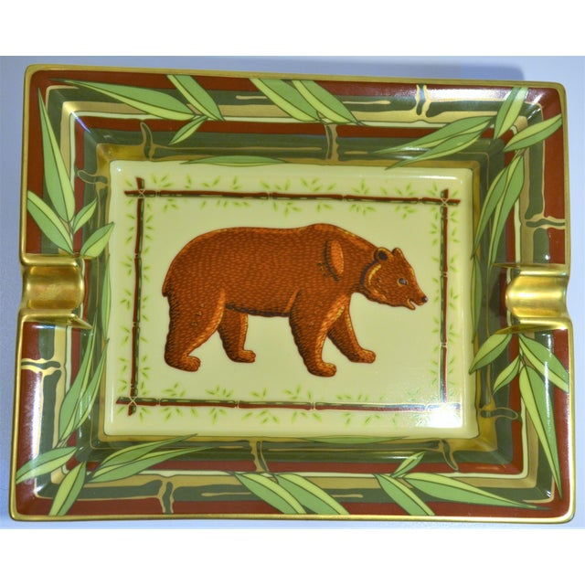 Vintage Hermès Bear and Bamboo Cigar Tray For Sale - Image 11 of 13