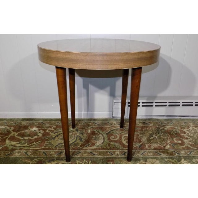 Mid-Century Modern 1960's Vintage Thonet Round Side Table For Sale - Image 3 of 13