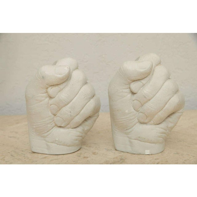 Richard Etts Richard Etts Plaster Candle Holders - a Pair For Sale - Image 4 of 10
