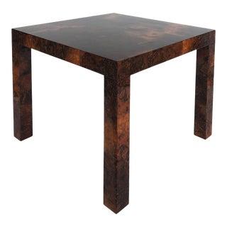 Paul Evans Directional Patchwork Burlwood Side Table For Sale