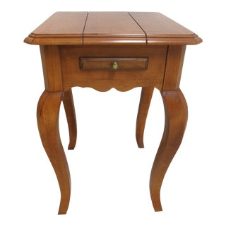 Ethan Allen Legacy Petite Country French Pedestal End Table For Sale