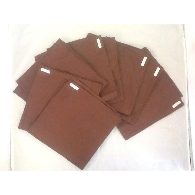 Irish Brown Linen Napkins - Set of 8 - Image 2 of 6