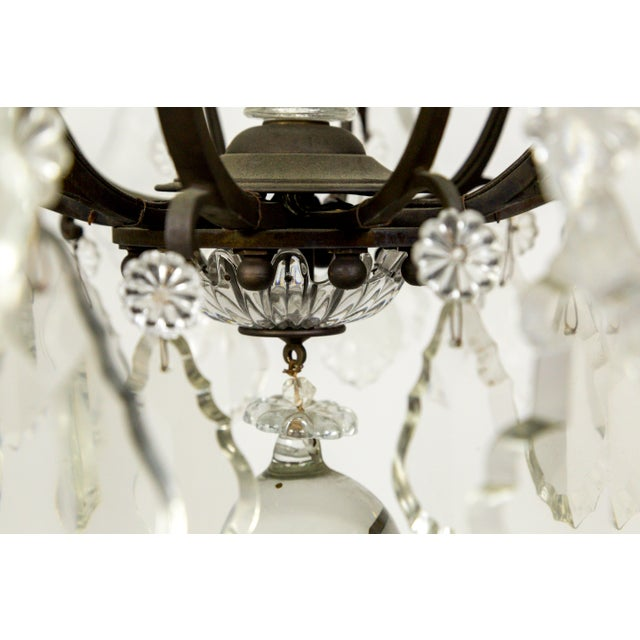 Parisian Second Empire Style Darkened Brass Chandeliers - a Pair For Sale - Image 10 of 13