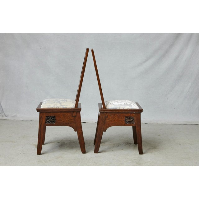 Important Art Nouveau Dining Set by Ernesto Basile for Ducrot, Circa 1900 For Sale - Image 9 of 13