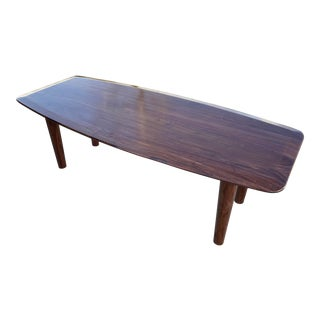 Mid-Century Modern Solid Coffee Table For Sale