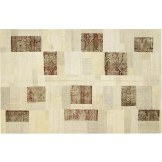 "Nalbandian - 1950s Turkish Patchwork Kilim - 5'10"" X 9'2"" For Sale"
