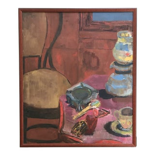 Shirley Kalish California Artist Still Life on Canvas For Sale