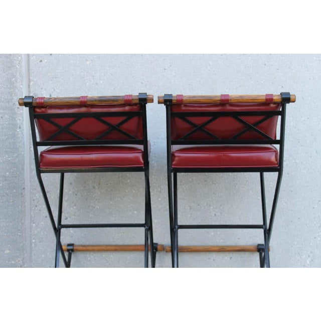 Metal Cleo Baldon Style Bar Stools-a Pair For Sale - Image 7 of 9