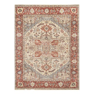 Pasargad Fine Hand-Knotted Serapi Rug - 8' × 10′ For Sale