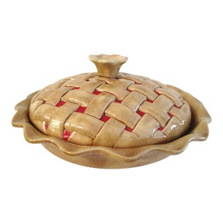 1970s Ceramic Realistic Pie Keeper For Sale