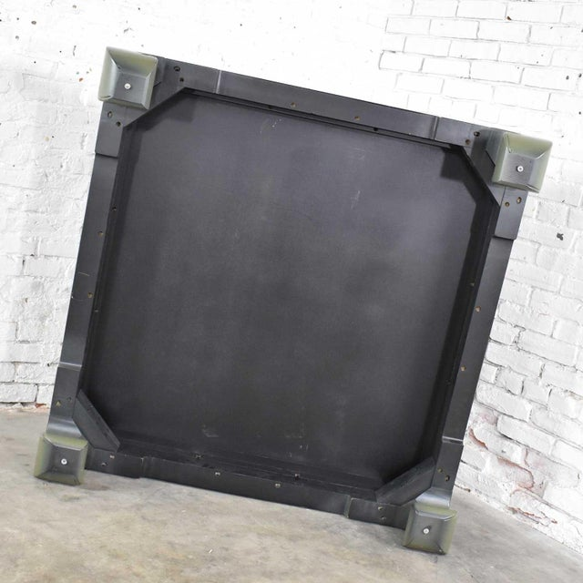 Monumental Square Asian Ming Style Lacquered Coffee Table in Sage Green For Sale - Image 12 of 13