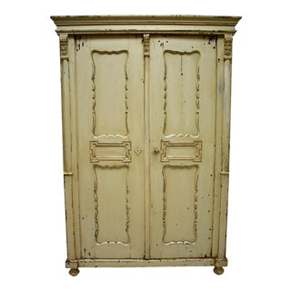 Pine Painted Two Door Armoire