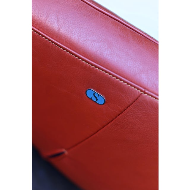 Jane Worthington DS 152 Red Leather Sofa for De Sede For Sale - Image 11 of 13