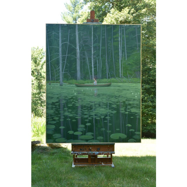 """""""Awestruck"""", Contemporary Large (60"""" X 48"""") Painting by Stephen Remick For Sale - Image 11 of 13"""