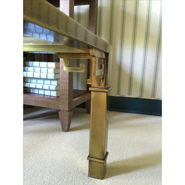 Mastercraft Brass and Glass Cocktail Table - Image 6 of 6