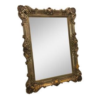 Vintage Hollywood Regency Ornate Wall Mirror For Sale
