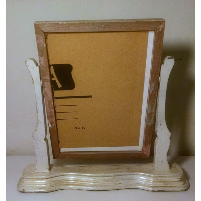 Vintage Swivel Stand With Signed Floral Painting - Image 4 of 5