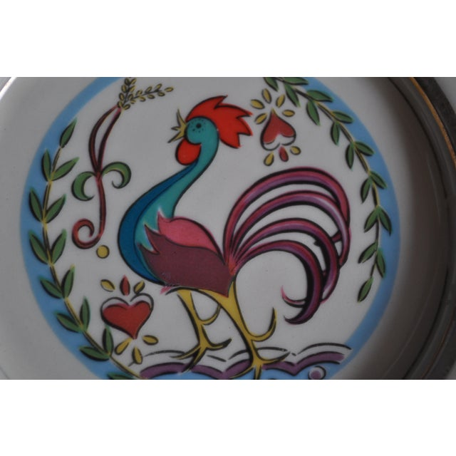 Vintage 1950's Hyalyn Rooster Dish For Sale - Image 5 of 6