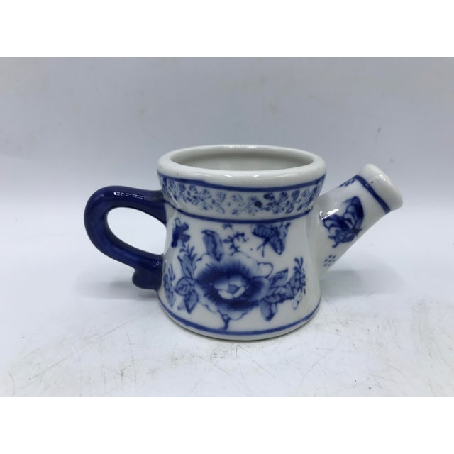 Ceramic Blue and White Miniature Watering Can Sculpture For Sale - Image 7 of 7