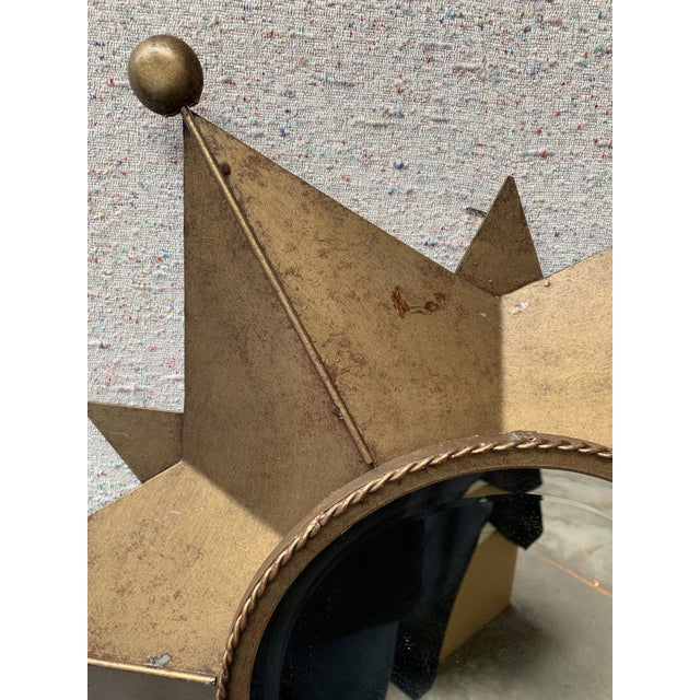 Contemporary Gold-Tone Metal Star Shaped Accent Mirror For Sale - Image 4 of 9